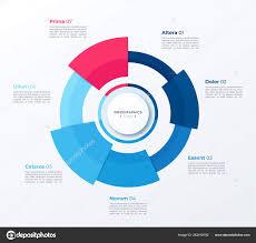 Modern Chart Design Vector Circle Chart Design Modern Template For Creating