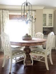 round pedestal kitchen table. Breakfast Room Dining \u0026 Built-In Bar / Round Pedestal Table With Vintage Chairs Farmhouse Chandelier | Beth Hart Designs Kitchen L