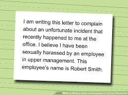 letters of complaint letter of complaint image titled write a 4 ways to write a letter of complaint to human resources wikihow