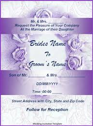 Wedding Card Template Word Zromtk Custom Free Invitation Card Templates For Word