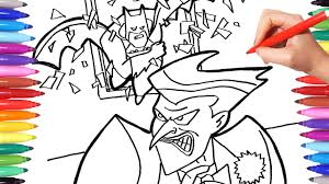 Find more the joker coloring. Batman Vs Joker Coloring Pages How To Draw Batman And Joker Superheroes Coloring Book For Kids Youtube