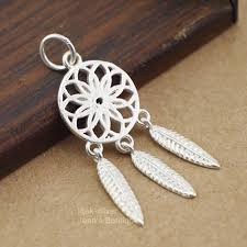 2019 925 solid sterling silver fashion jewelry dream catcher feather wish dangle charm pendant diy jewelry a2266 from mandarin18 21 72 dhgate com