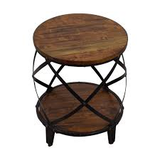 steve silver round wood and metal end table steve silver end tables