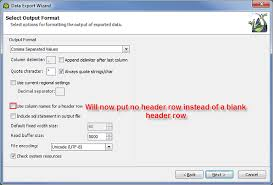 Export with no column header leaves a blank row - Toad Data Point ...