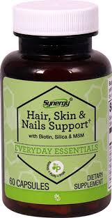 vitacost synergy hair skin nails support with biotin silica msm