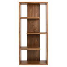... Modern wooden shelving unit ...