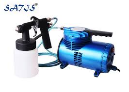 portable mini air compressor with low pressure spray forfurniture painting works art