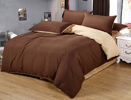 luxe home 4 piece quilt cover bedding set chocolate cream
