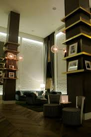 Modern art deco lobby at The Roger Hotel