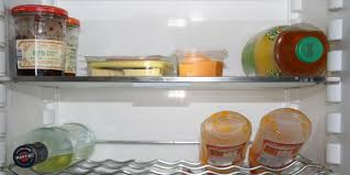 Clean the inside of the refrigerator with baking soda and vinegar