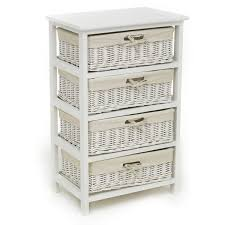 white storage unit wicker: wilko  drawer storage unit white