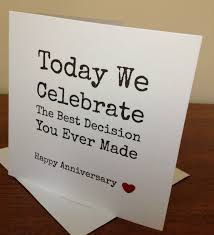 Handmade Wifehusband Anniversary Card Funny View More On