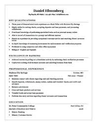 Resume Sample For Bank Teller Best Of Banking Resume Sample Bank Teller Resume Sample Banking Resume