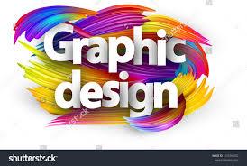 Spectrum Graphic Design Graphic Design Poster Spectrum Brush Strokes Stock Vector