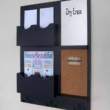 mail organizer cork board white board key hooks wood wall hanging