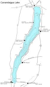 Large Map Of Canandaigua Lake Nys Dept Of Environmental