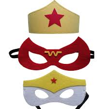 Mask Decorating Supplies Wonder Woman Mask Kids Birthday Gift Cosplay Party Decoration 91