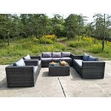 7 seater rattan garden furniture set