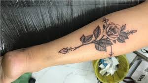 Rose Tattoo Black And Grey Tattoo Ideas For Girls On Leg