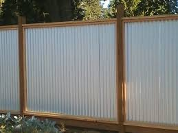 steel panel fence image of is a corrugated metal fence er than wood galvanized steel panel