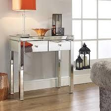 birlea seville mirrored console table