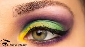 mardi gras eye makeup mardi gras carnaval eye makeup tutorial you