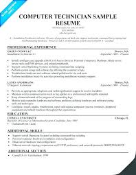 Technician Resume Examples Samples It For Supply Example Federal ...