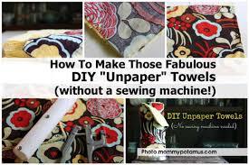 diy unpaper towels mommypotamus com
