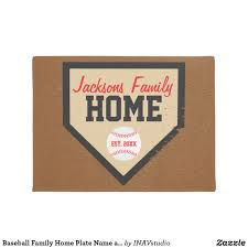 Baseball Family Home Plate Name and Year Doormat | Doormat, Create ...