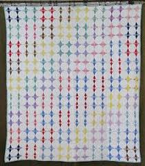 Beautiful Cottage Home! Vintage 30s Feedsack Double Irish Chain ... & VINTAGE 30s Hummingbird Stars QUILT 74x65