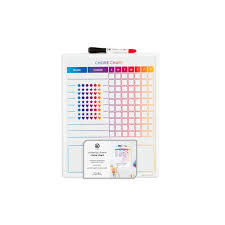 Chore Carts U Brands Magnetic Dry Erase Chore Chart 14 X 11 Inches White Frame Walmart Com