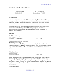 College Graduate Resume Samples Resume Examples For Recent College Graduates on Recent College 36