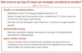 cv the inside coach consultancy cv inhoudelijk