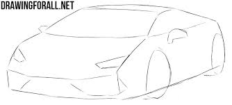 car drawing easy step by step.  Easy Easy To Draw Sports In Car Drawing Easy Step By A