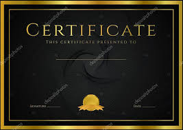 certificate diploma of completion design template background  certificate diploma of completion design template background guilloche pattern watermark rosette border frame black gold certificate of