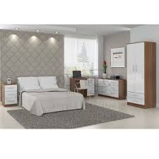 Lynx Bedroom Furniture White And Walnut Bedroom Furniture Raya Furniture