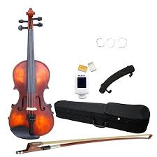 Glarry Goldenrod <b>Full Size 4/4 Solid</b> Wood Violin with Electronic ...
