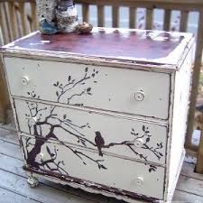 painted dresser ideasDishfunctional Designs Upcycled Dressers Painted Wallpapered