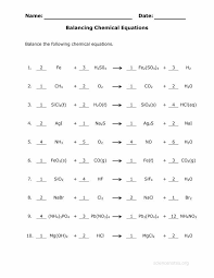 balancing chemical equations worksheet 1 with balance chemical equations worksheet answer key for the awesome