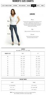 7 Best Sizing Chart For Womens Jeans Images Jeans Brands