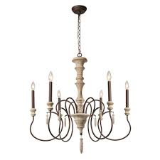 french country chandelier lnc 6 light ivory white shabby chic