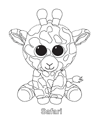 Small Picture Ty Beanie Boo Coloring Pages Download And Print For Free
