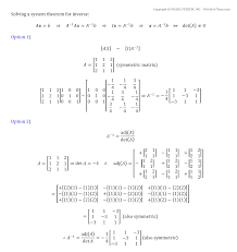 two ways to find the inverse of a 3x3 matrix and solving a system of equations wesolvethem com