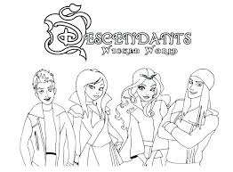 Evie Coloring Pages And Coloring Pages Descendants 2 Coloring Pages