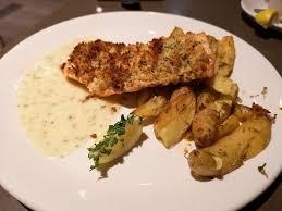 Chart House Sausalito Lemon Herb Crusted Salmon Picture Of Chart House San