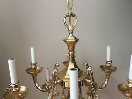 3 of 5 traditional solid brass chandelier ceiling 12 light colonial french 27