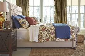 upholstered sleigh beds. Windville Queen Upholstered Sleigh Bed, Linen, Large Beds