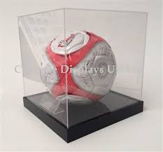 acrylic football display case uk raised