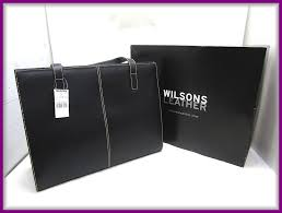 unused storage goods wilsons leather wilson z leather lady s business bag tote bag shoulder bag