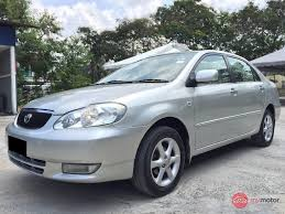 2003 Toyota Corolla Altis for sale in Malaysia for RM22,000 | MyMotor